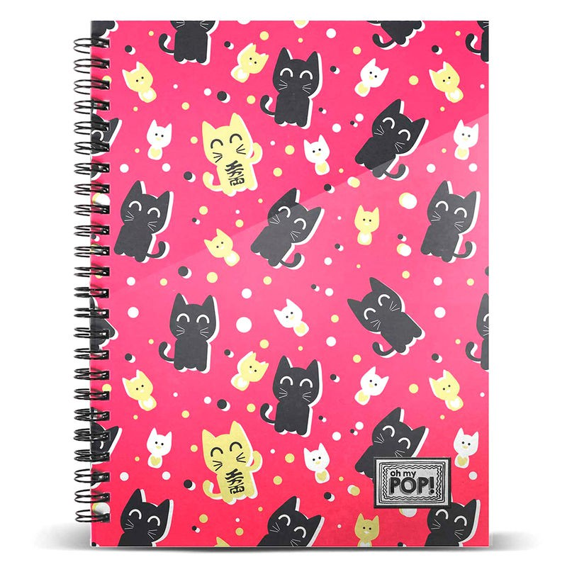 Oh My Pop Cats-Quaderno R DIN A4